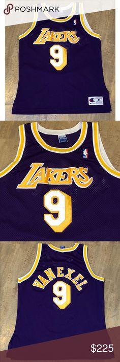 5684153f6 Champion Authentic LA Lakers Nick Van Exel Jersey Vintage Champion Nick Van  Exel Los Angeles Lakers