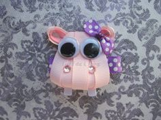 Hippo hair clip by TiedTutusAndThings on Etsy