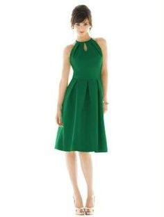 Alfred Sung 441 Bridesmaid Cocktail Dress Pine Green Sz 0 | eBay