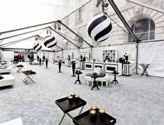 Black and White All Over: Blueprint Studios Designs the Iconic Black and White Ball