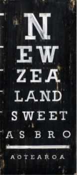 Discover Me : Aotearoa Canvas Print by Jason Kelly by Prints NZ Kiwiana Canvas Print Image size in millimetres: 210 x 500 (canvas printed with a wide black border around image) Kiwiana style _Eye Chart_. New Zealand: Sweet.