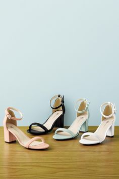 a75eb9d87 Block Heel Ankle Strap Sandal by Boston Design Studio™. These gorgeous  chunky heels are