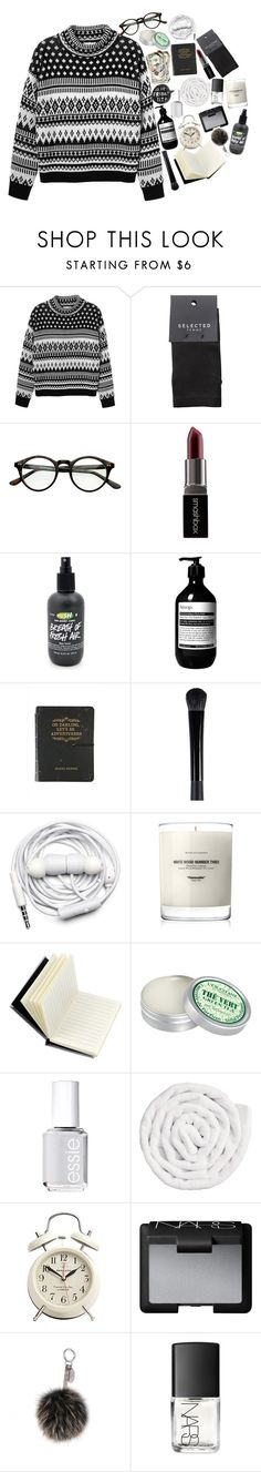 """You Mentioned It Many Times"" by nsrogsy3 ❤ liked on Polyvore featuring Monki, SELECTED, Smashbox, Aesop, Urbanears, Baxter of California, Spinning Hat, L'Occitane, Essie and VIPP"