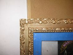 How to repair a gilded plaster frame