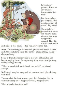 Grade 2 Reading Lesson 22 Short Stories The Monkey Orchestra 11 Stories With Moral Lessons, English Moral Stories, English Stories For Kids, Moral Stories For Kids, Short Stories For Kids, English Story, Reading Stories, Reading Passages, Parts Of Speech Worksheets