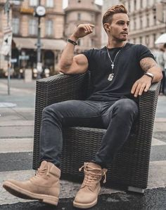44 spring chic outfits for men& street style # men& 44 spring . - 44 spring chic outfits for men& street style 44 spring chic outfits for me - Stylish Men, Men Casual, Casual Styles, Casual Wear, Mode Man, Herren Outfit, Fashion Mode, Style Fashion, Fashion Spring