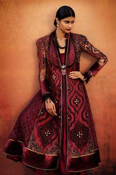 Maroon suit by Tarun Tahiliani