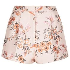 Stella McCartney Floral Print Shorts ($470) ❤ liked on Polyvore featuring shorts, bottoms, flower print shorts, stella mccartney, floral printed shorts, white shorts and reversible shorts
