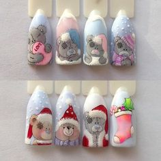 88 Wonderful DIY Christmas Nail Art Ideas for Girls - Christmas nails Diy Christmas Nail Art, Xmas Nail Art, Xmas Nails, New Year's Nails, Winter Nail Art, 3d Nails, Holiday Nails, Winter Nails, Cute Nails