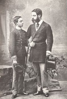Alfonso XII con su mentor José Osorio.