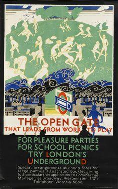 London Underground Posters Remind Us That Trains Are Wonderful London Underground, London Transport, London Travel, Public Transport, Vintage London, Old London, 1920s Ads, Pleasure Party, Bond