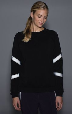 How To Work Out At Night — All The Gear You Need To Stay Safe #refinery29  http://www.refinery29.com/running-at-night-safety#slide1  A chic-but-still-lightweight crew pullover that keeps you warm during chilly runs — or simply going to and from your favorite studio class. The reflective trim on the arms will catch light during nighttime jogs, but reads as a subdued gray during the day.
