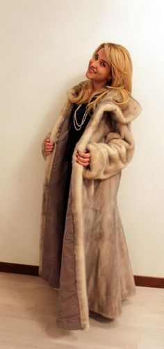 Gray Mink Fur Coat