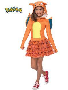 Girls Pokemon Charizard Costume | Wholesale Cartoon Characters Costumes for Girls  sc 1 st  Pinterest & 31 best Cartoon Character Costumes images on Pinterest | Baby ...