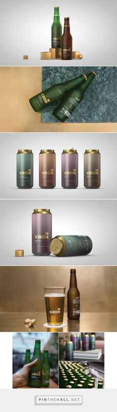 Krone (Crown) Beer on Behance. - a grouped images picture Beer Packaging, Brand Packaging, Packaging Design, My Design, Graphic Design, Design Ideas, Thinking Outside The Box, Wine And Beer, Bottle Design