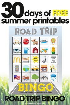 Road Trip Bingo is a fun travel game to help keep the kids occupied while traveling. It makes long road trips with kids so much easier!