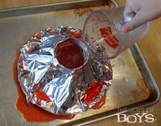 How to make an easy baking soda volcano using common supplies you have around the house. A simple way to teach children about acid/base reactions.