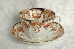 Vintage Antique Unnamed Royal Albert Cup Saucer Duo Circa 1917 1925 | eBay