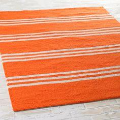 Wide Ticking Stripe Indoor-Outdoor Rug