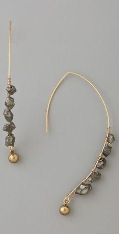 Soo Ihn Kim Klaus Pyrite Gemstone Earrings