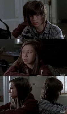 The Walking Dead / Carl and Enid - ''Don't tell me goodbye.''