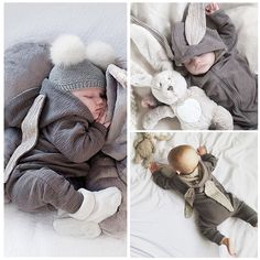 15194613827 2016 Newborn Infant Baby Girl Boy Clothes Cute Bunny Ear Romper Jumpsuit  Playsuit Autumn Winter Warm Bebes Rompers One Piece - Kid Shop Global - Kids    Baby ...