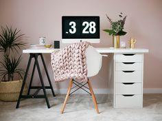 Trendy Diy Desk Ideas Paint Ikea Hacks 50 Ideas - New Ideas Ikea Workspace, Ikea Desk, Diy Desk, Bedroom Desk, Small Room Bedroom, Trendy Bedroom, Diy Bedroom, Ikea Hacks, Desk Hacks