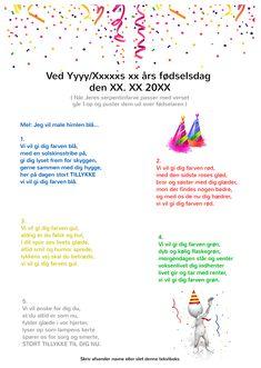 Kvinde der holder fest - Festsange med mere Diy For Kids, Singing, Songs, Birthday, Blog, Handmade, Denmark, Party Ideas, Danish Language