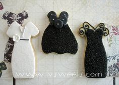 Trendy Dress cookies by L sweets, via Flickr