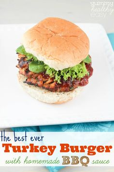 The Best Ever Grilled Turkey Burger with Homemade BBQ Sauce!