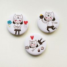 A Girl's Diary Button Badges or Magnets