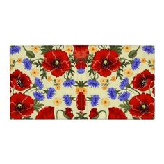 blue flowers and poppies binder
