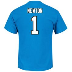Men's Cam Newton Carolina Panthers Majestic Blue Eligible Receiver III Name and Number T-Shirt