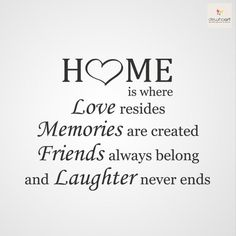 My home sweet home 🏡 ❤️ Familia Quotes, New Home Quotes, New Home Cards, Wall Quotes, Wall Sayings, True Sayings, Beautiful Words, Inspire Me, Wise Words