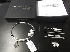 ALEX & ANI BUMBLE BEE LOYAL-CONSCIENTIOUS-DRIVEN  NEW IN BOX WITH TAGS - http://designerjewelrygalleria.com/alex-ani/alex-ani-bumble-bee-loyal-conscientious-driven-new-in-box-with-tags/