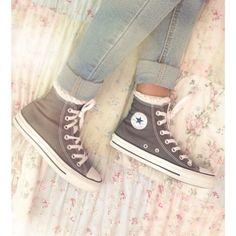 Ruffled socks with converse