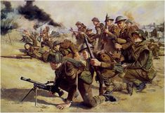 South Lancashire Regiment of the 3rd British Infantry Division landed ashore at Sword Beach during D-Day. Normandy June 6, 1944.