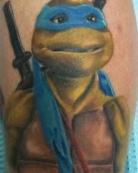 epic Ninja Turtle tattoo, My late Brother had a Mutant Ninja Turtle tat on his calf of his leg in honor of his late Son .May they Both  RIP. I love and miss you everyday.