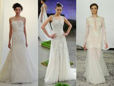 The Top Wedding Dress Trends From Spring 2016 Bridal Fashion Week  | TheKnot.com #weddingtrends2016 #layeredlace