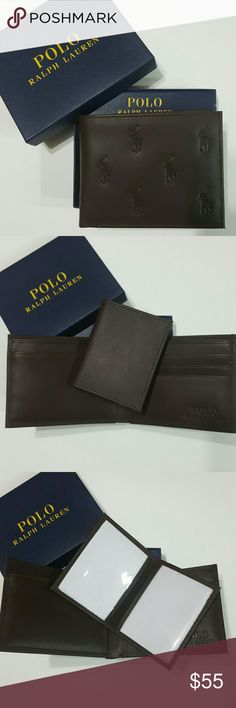 Polo Ralph Lauren Wallet Men Big Pony NIB New Polo Ralph Lauren Men's Wallet Billfold   100% Authentic  - Price Firm   Material: Leather  Color: Brown  Thank you for shopping with US! Polo by Ralph Lauren Bags Wallets