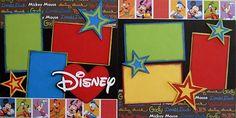 Disney  2page 12x12 doityourself scrapbook by DownMemoryLane, $7.00