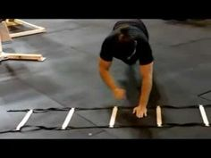 Hands in the agility ladders: foot/hand speed, core and joint stability, reaction time...