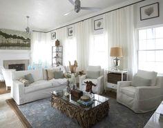 alys beach home decorating in white, driftwood coffee table, sea fan art, Allison Wickey wall art