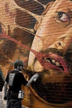 Street art come forma d'arte… 3d Street Art, Street Art Artiste, Best Street Art, Amazing Street Art, Street Art Graffiti, Street Artists, Amazing Art, Banksy, Pop Art