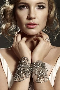 Forgo the necklace and dress up your wrists with these gorgeous cuffs.