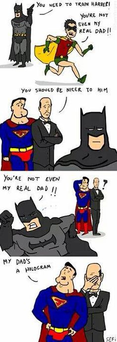 DC Daddy Issues - Comics, Superheroes, and Villains Funny Cartoons, Funny Comics, Dc Comics, Funny Humor, Dc Memes, Marvel Memes, Marvel Avengers, Tim Drake, Nightwing