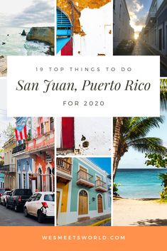 Are you looking to travel to San Juan, Puerto Rico? Click through to find top things to do in this beautiful Caribbean Island travel destination! Whether you are looking to visit a beach i San Juan Restaurants, Puerto Rico Restaurants, Puerto Rico Trip, San Juan Puerto Rico, San Juan Beach, Southern Caribbean, Caribbean Cruise, Caribbean Vacations, Old San Juan