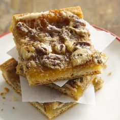 ... to make a whole pecan pie? Try these quick crescent pecan pie bars