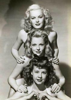 June Haver, Vivian Blaine & Vera Ellen