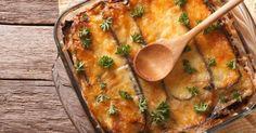 Recette de Gratin d'aubergines sur purée au chèvre . Facile et rapide à réaliser, goûteuse et diététique. Ingrédients, préparation et recettes associées.